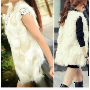 Jackets & Blazers - Faux Fur Vest in Perfect Condition